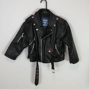 Outdoor Habitat Vegan Leather Moto Jacket Size 6T